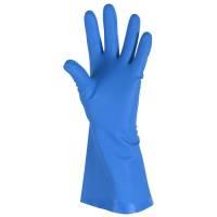 Husholdningshandske, DPL Interface soft, 7, blå, nitril, pudderfri, uden velour, anatomisk formet