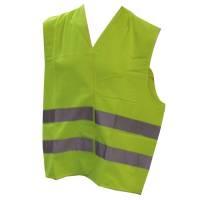 Sikkerhedsvest overtræk polyester unisex onesize gul