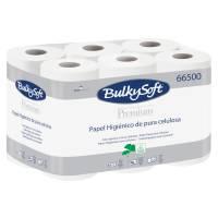Bulkysoft toiletpapir EU-Blomsten 2-lags 100% nyfiber hvid