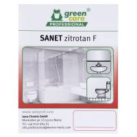 Green Care Professional Etiket t. sanitetsrengøring Sanet Zitrotan F
