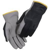 All-round handske, THOR Driver, 10, grå, syntetisk læder/polyester/lycra/bomuld