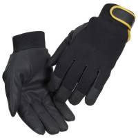 All-round handske kunstlæder velcro touch screen Str.8 sort