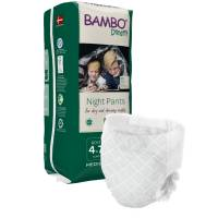 Bambo Børneble, bukseble, Dreamy Night Pants, Dreng, 4-7 år hvid