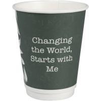 Gastro-Line Green Leaves komposterbar kaffebæger 36cl