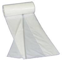 Lågpose HDPE 10 my 30x35 cm 6 liter hvid, 100 stk pr. rulle