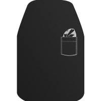 Spisestykke DuniSoft sort med lomme 40x60cm