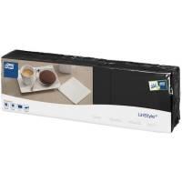 Tork Linstyle Kaffeserviet 1-lag 1/4fold nyfiber 23x23cm sort