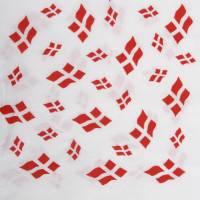 Frokostserviet 3-lags 1/4 fold 33x33cm hvid med flag