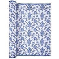 Airlaid Kuvertløber Bloom 40x480 cm blå og hvid