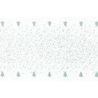Kuvertløber, Nordisk Jul, 1080x40cm, sølv, airlaid, perforeret for hver 1,2 m