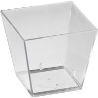 Amuse-Bouche, Duni, 4,9x4,9x4,6cm, 6 cl, klar, PS, firkantet *Denne vare tages ikke retur*