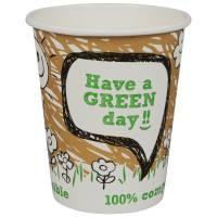 Gastro kaffebæger 100% komposterbar 9cm Ø8cm 24 cl