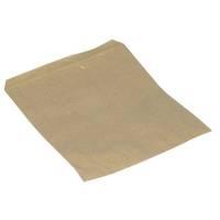 Brødpose brun papir 17x22cm