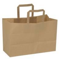 Papirpose med hank papir 17 liter 35x17x24,50cm brun