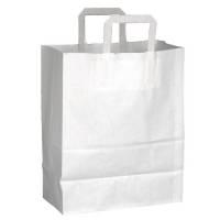 Bærepose med hank papir 26 liter 32x17x40cm hvid