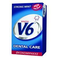 V6 tyggegummi Dental Care Strong Mint 50 pak