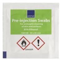 Injektionsserviet, Abena, 85% ethanol, 3x6 cm, enkeltpakket