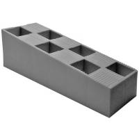 Dørkile, 15x4,5x5cm, grå, plast