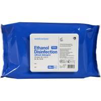 Wet Wipe overfladedesinfektion med 85% ethanol 20x30 blå