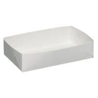 Kageæske, 22,5x14x5cm, hvid, nr. 2, falseæskekarton