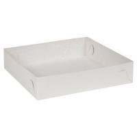 Kageæske hvid Falsæskekarton nr. 3 22,50x22,50xH5cm 260g/m2 - 450 my
