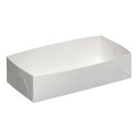 Kageæske, 29x19x5cm, hvid, nr. 4, falseæskekarton