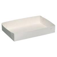 Kageæske, hvid Falsæskekarton, nr. 5, 22,50x38xH5cm, 340 g/m2 - 650 my