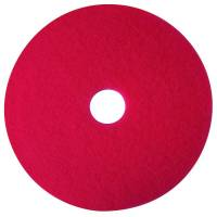 Gulvrondel, 3M Scotch-Brite, Ø35,5cm, rød, 85 mm, 14 tommer