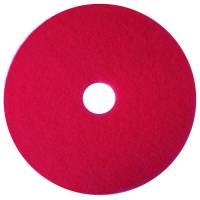 Gulvrondel, 3M Scotch-Brite, Ø38cm, rød, 85 mm, 15 tommer