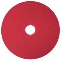 Gulvrondel, 3M Scotch-Brite, rød, huldiameter 85 mm, 16 tommer