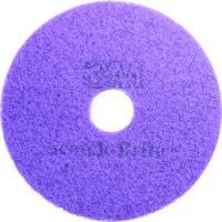 Gulvrondel, 3M Scotch-Brite, Ø40,6cm, lilla, 85 mm, 16 tommer