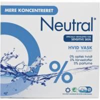 Neutral Vaskepulver, hvid vask, uden farve og parfume, 675 g