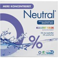 Neutral vaskepulver kulørt uden farve og parfume 771g