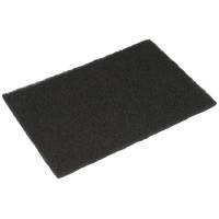 Skurefiber, 22,5x15x0,8cm, sort, polyester/nylon, grov skureeffekt