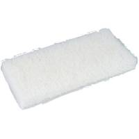 Skurefiber, 25x12x2,5cm, hvid, polyester/nylon, fin skureeffekt, ridsefri