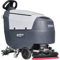 Nilfisk SC400 gulvvasker med indbygget lader samt børste og batteri