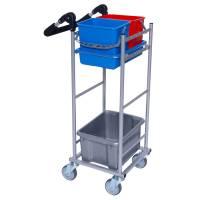 Rengøringsvogn Ergo Kompakt Model 1 vognen er grå