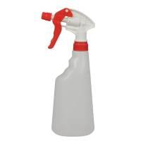 Bruseflaske, 600 ml, rød, forstøver, til rengøringsmidler