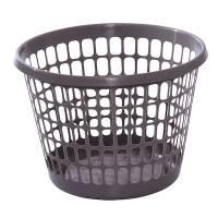 Vaskekurv i plast 32 liter rund koksgrå