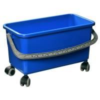 Tina Trolleys Moppespand med hjul 22 liter blå