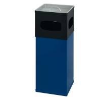 Affaldsspand med askebæger 50 liter blå