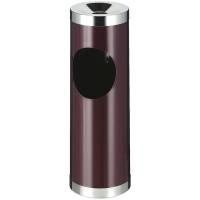 Affaldsspand, robust, med askebæger, Bourgogne rød