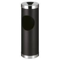 Affaldsspand, robust, med askebæger, sort