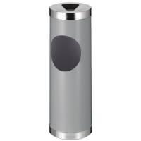 Affaldsspand, robust, med askebæger, grå