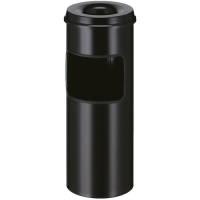 Affaldsspand med askebæger, 30 l, sort *Denne vare tages ikke retur*