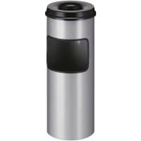 Affaldsspand metal 30 liter aluminium grå