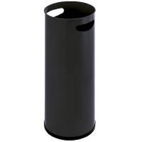 Paraplyspand metal med håndgreb sort og krom