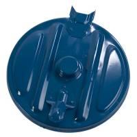 Affaldspose holder, klar til vægmontering, kildesortering mulig, galvaniseret og blå, 110 l