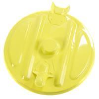 Affaldspose holder, klar til vægmontering, kildesortering mulig, galvaniseret og gul, 110 l
