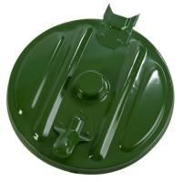 Affaldspose holder, klar til vægmontering, kildesortering mulig, galvaniseret og grøn, 110 l
